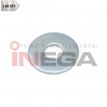 Plačios poveržlės DIN9021, plienas, 140 HV, cinkuotos
