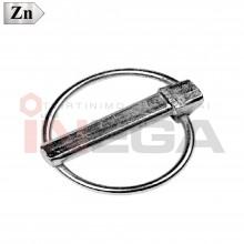Kaiščiai su žiedu DIN11023, plienas, cinkuoti