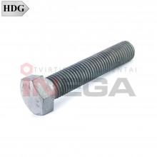 Varžtai šešiakampe galvele, pilnu sriegiu DIN933/ISO4017, plienas, 8.8 klasė, karštai cinkuoti