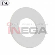Siauros poliamidinės poveržlės DIN125, poliamidas