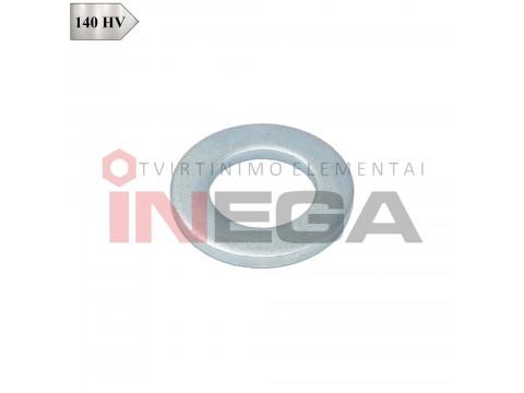 Siauros poveržlės DIN125, plienas, 140 HV, cinkuotos