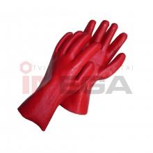 Pirštinės guminės (raudonos)