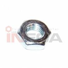 Šešiakampės plonos veržlės DIN439, metriniu smulkiu sriegiu, plienas, 04 klasė, baltai cinkuotos