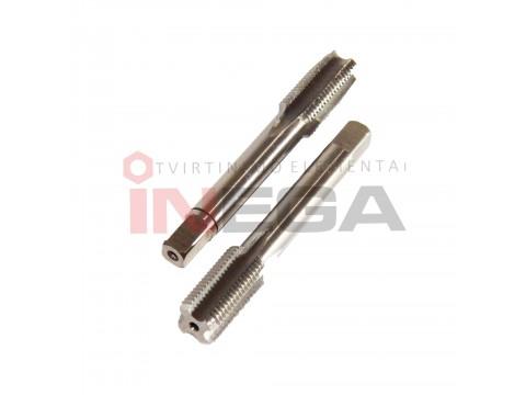 Smulkiasriegių sriegiklių komplektas (2vnt) DIN2181 HSS-G, 800N/mm²