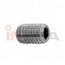 Fiksavimo varžtai DIN913/ISO4026, metriniu standartiniu sriegiu, nerūdijantis plienas A2