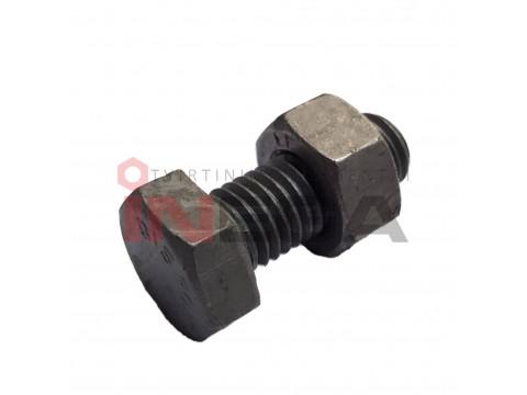 Varžtų komplektas: varžtai DIN601, 4.6 klasė ir veržlės DIN555, 8 klasė, plienas, karštai cinkuoti