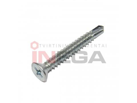 Sraigtai įleidžiama PH galvele, su grąžteliu DIN7504P/ISO15482, plienas, cinkuoti