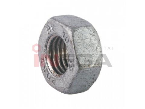 Struktūrinės veržlės HV EN14399-4/DIN6915, plienas, 10 klasė, karštai cinkuotos