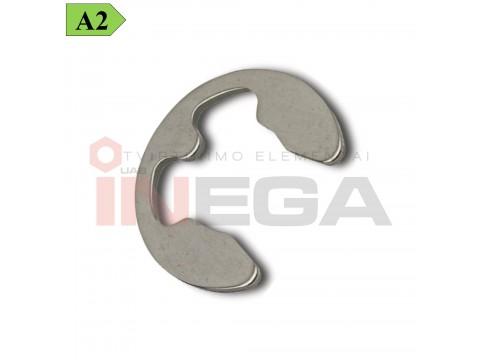 Fiksavimo žiedai DIN6799, spyruoklinis nerūdijantis plienas