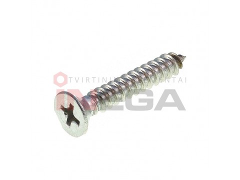 Sraigtai metalui DIN7982H/ISO7050, nerūdijantis plienas A2