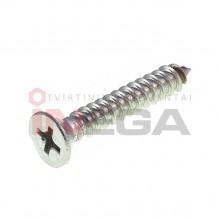 Sraigtai metalui DIN7982H/ISO7050, nerūdijantis plienas A4