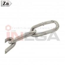Grandinės ilgų jungčių DIN763, plienas, cinkuotos
