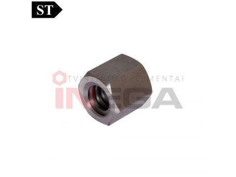 Šešiakampės veržlės trapeciniu sriegiu DIN103, plienas, be padengimo