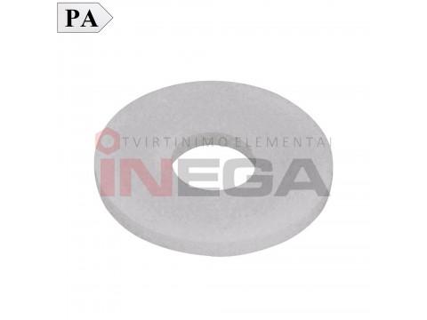 Plačios poliamidinės poveržlės DIN9021, poliamidas