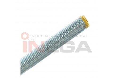 Sriegti strypai DIN976, coliniu standartiniu sriegiu, plienas, 8.8 klasė, baltai cinkuotI