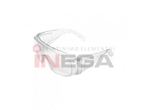 Akiniai apsauginiai su šonine apsauga (skaidrūs)
