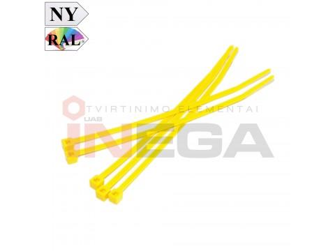 Dirželiai laidams, geltoni