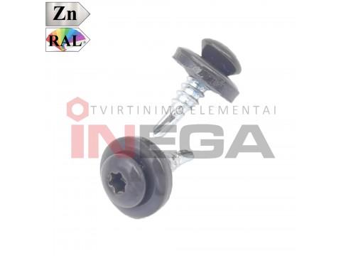 Stoginiai savisriegiai TORX įsukimu, 4,8x20, su 14 mm EPDM