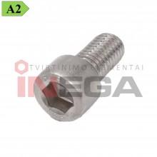 Varžtai cilindrine galvele, vidiniu šešiakampiu DIN912/ISO4762, pilnu sriegiu, nerūdijantis plienas, A2-70
